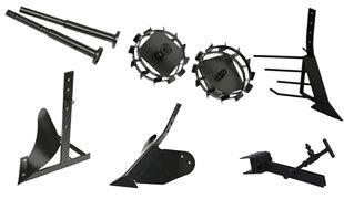 Комплект насадок для FJ500 (грунтозацепы, удлинитель, плуг, картофелевыкапыватель, окучник, сцепка) в Ялтае